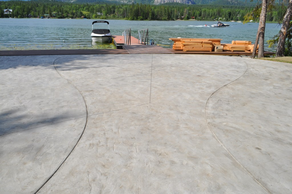 Stamped Finish Concrete Patio