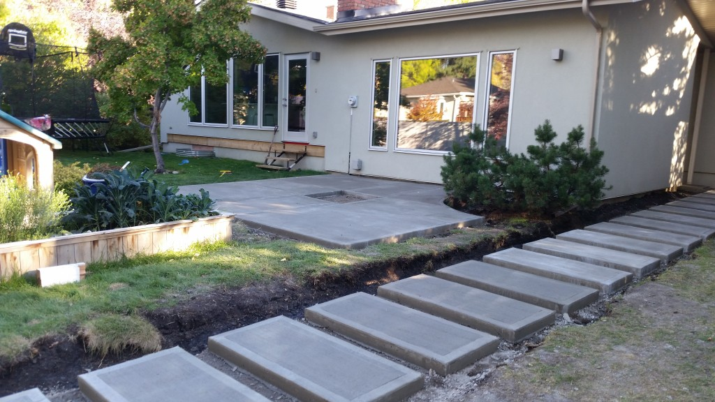 patio cost ideas stamped concrete backyard for toronto
