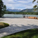 Italian Slate Stamped Finish Colored Concrete Patio