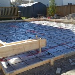 Concrete Garage Pad With Curb Walls Formwork