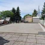 Smooth Finish Concrete Garage Pad Calgary