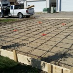 Flat Garage Pad With Deepened Edge Formwork
