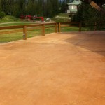 Griz Inn Patio Integral Color Concrete