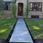 Broomed Finish Concrete Pathway Calgary