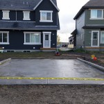 Concrete Garage Pad With Curb Wall Calgary