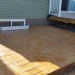 Stamped Concrete Backyard Patio Calgary