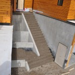 Exposed Concrete Staircase