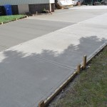 Broomed Finish Concrete Driveway