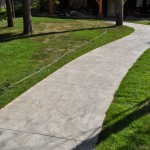 Stamped Finish Concrete Sidewalk